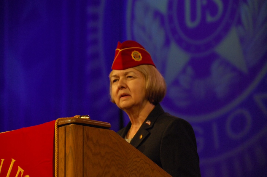 Pictured: Denise Rohan, National Commander of the American Legion