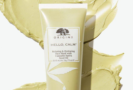 Cannabis and skincare: Origins hemp-based face mask distributed online through Sephora